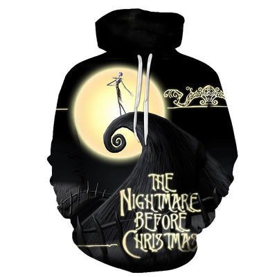 The Nightmare Before Christmas Jack And Sally Skellington All Over Hoodie PF147