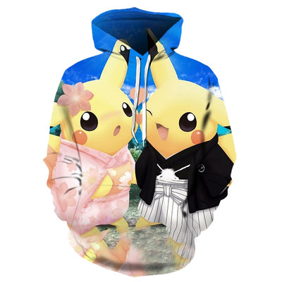 2019 new cartoon Pokemon All Over Hoodie PF133