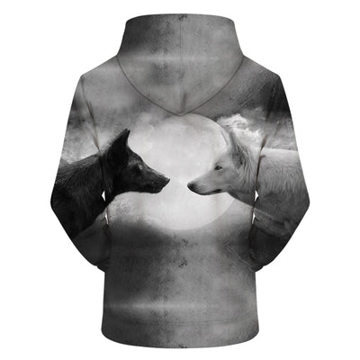 Wolf Moon All Over Hoodie PF109