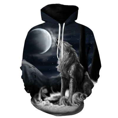 Funny Wolf Warrior All Over Hoodie PF113