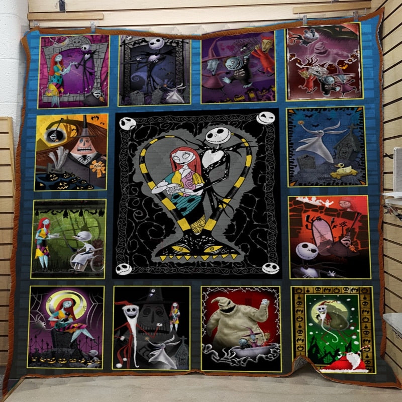 Jack Skellington&Sally The Nightmare Before Christmas Quilt Blanket EP249