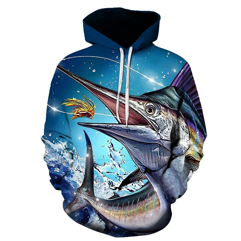 3D Tropical Fish Funny For Fishinger Fisherman All Over Hoodie PF119