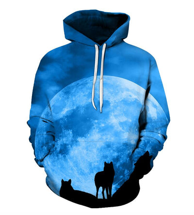 Funny Wolf Warrior All Over Hoodie PF117