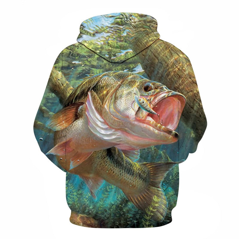 3D Tropical Fish Funny For Fishinger Fisherman All Over Hoodie PF120