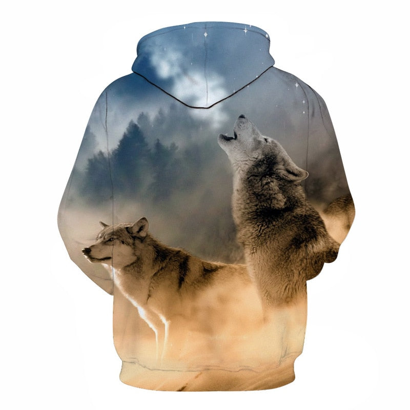 Funny Wolf Warrior All Over Hoodie PF115