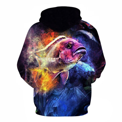 3D Tropical Fish Funny For Fishinger Fisherman All Over Hoodie PF122