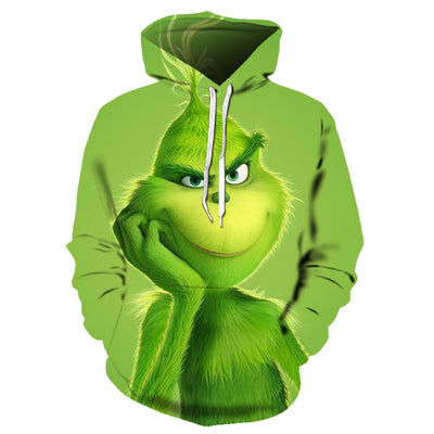 The Grinch Christmas Sweatshirt Hoodie All Over Printed PF169
