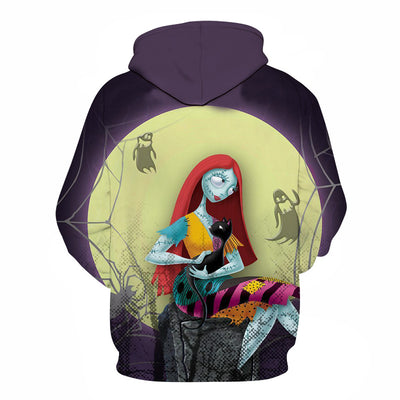 The Nightmare Before Christmas Jack And Sally Skellington All Over Hoodie PF141