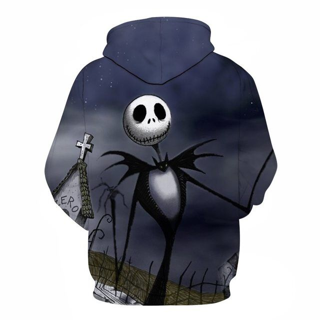The Nightmare Before Christmas Hoodies Print Jack And Sally Skellington All Over Hoodie Sweatshirt PF148