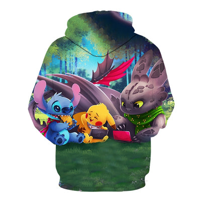 2019 new cartoon hoodie Pokemon 3D All Over Hoodie PF128