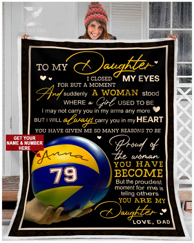 Volleyball - To my daughter - Proud of you Quilt Blanket EP2507