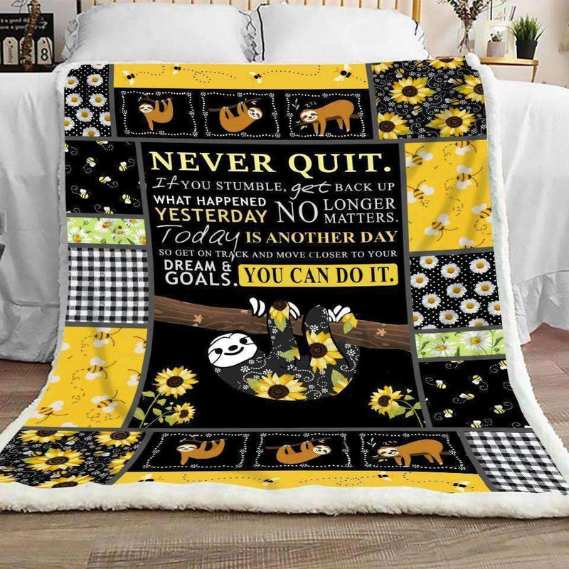 Sloth - Never Quit Quilt Blanket EP1606