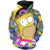 The Simpsons All Over Hoodie Sweatshirt PF153
