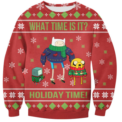 Adventure Time Ugly Christmas Hoodie All Over Printed PF180