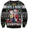 Rick Have A Merry Schwiftmas Print Ugly Christmas Sweatshirt Hoodie All Over Printed PF188