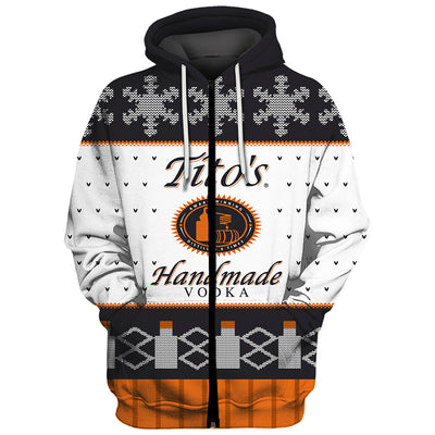 Tito's Vodka Ugly Christmas Sweatshirt Hoodie All Over Printed PF168