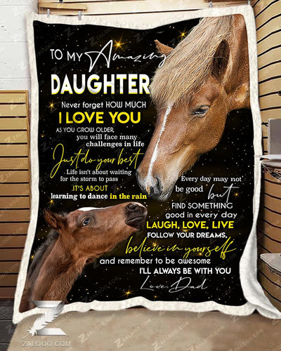 Custom HORSE - To my Daughter Dad - Just do your best - 5
