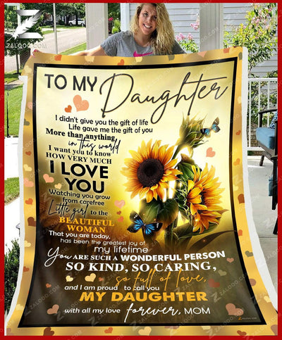 Custom Sunflower For Daughter From Mom - Life gave me the gift of you - 5