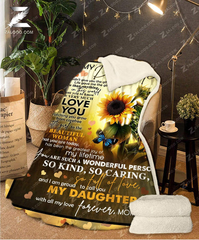 Custom Sunflower For Daughter From Mom - Life gave me the gift of you - 4