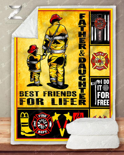 Custom Firefighter Father and Daughter - Best Friends For Life - 5