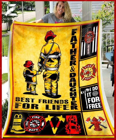 Custom Firefighter Father and Daughter - Best Friends For Life - 2
