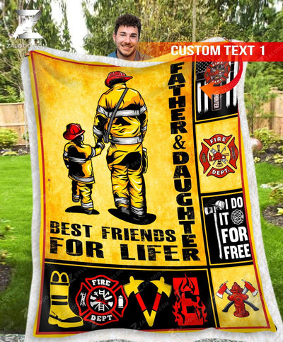 Custom Firefighter Father and Daughter - Best Friends For Life - 1