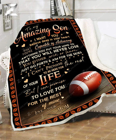 Custom FOOTBALL - For Son From Mom - You will never lose - 4