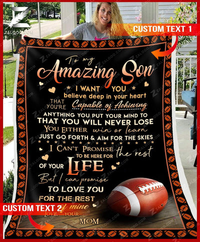 Custom FOOTBALL - For Son From Mom - You will never lose - 2