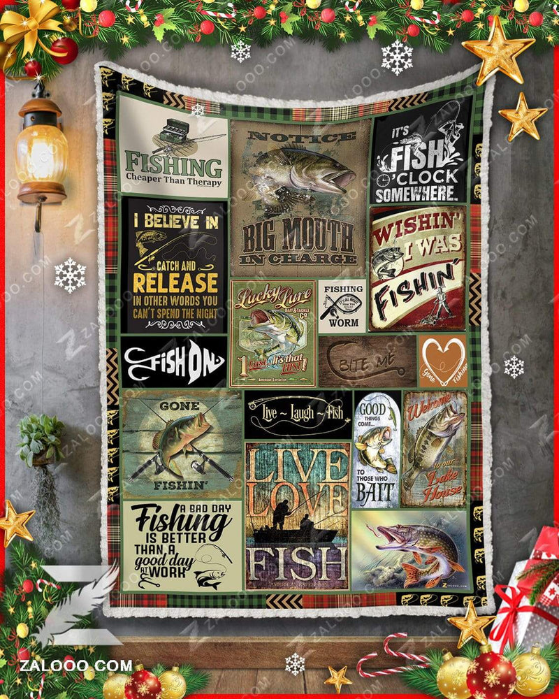 FISHING Quilt Blanket EP1781