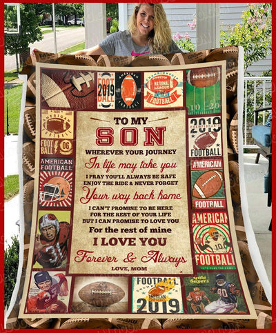 Personalized FOOTBALL - Son Mom - Wherever Your Journey In Life May Take You - 5