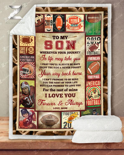 Personalized FOOTBALL - Son Mom - Wherever Your Journey In Life May Take You - 2