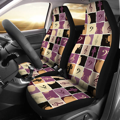 Car seat covers clefs and strings