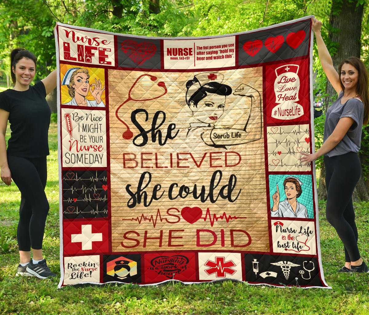 Nurse Believed Quilt EP369