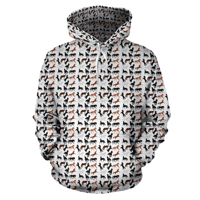 Horses All Over Hoodie