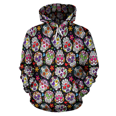 Multi-Colored Skull All Over Hoodie