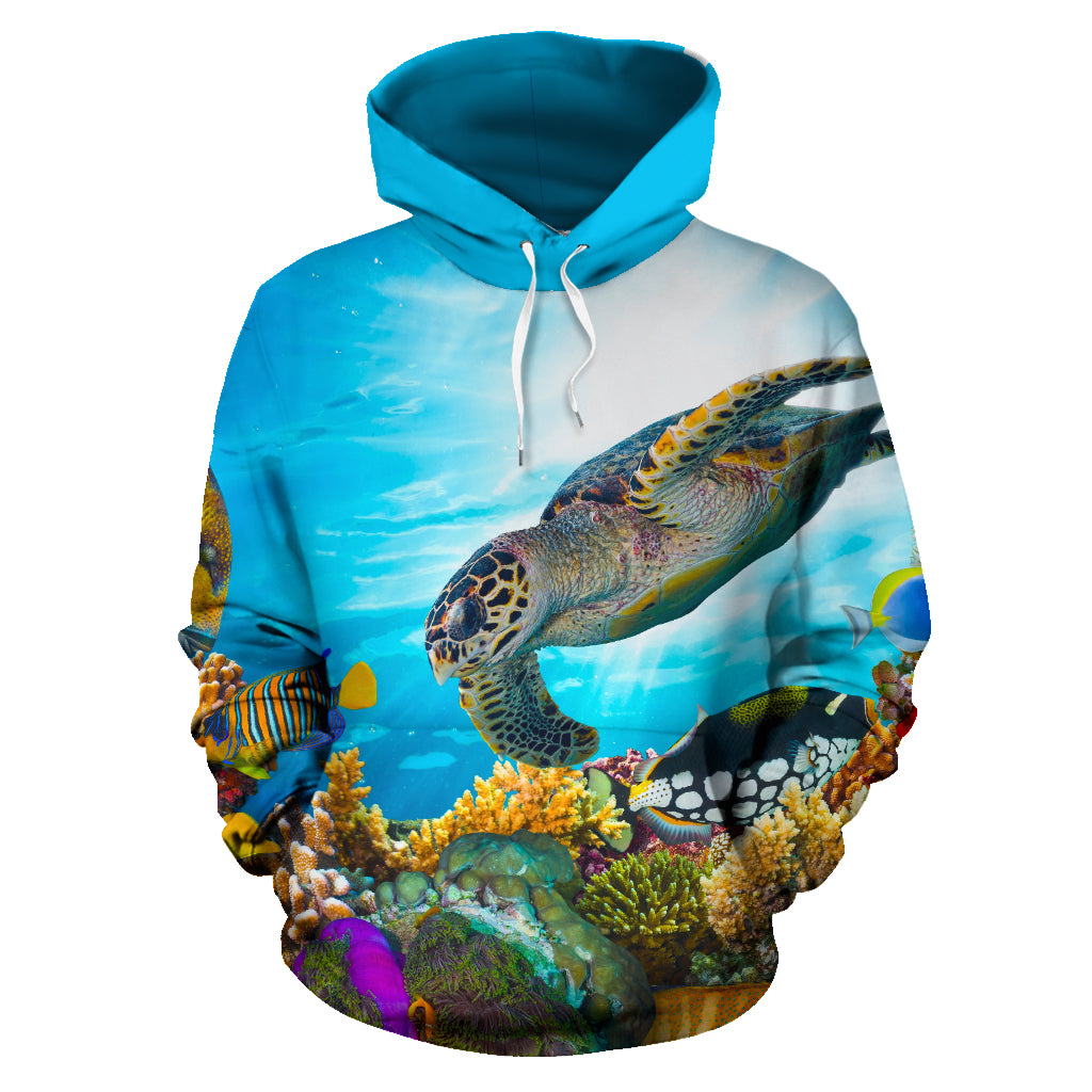 TURTLE ALL OVER HOODIE PF163