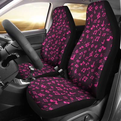 Car seat covers Pink Music Notes