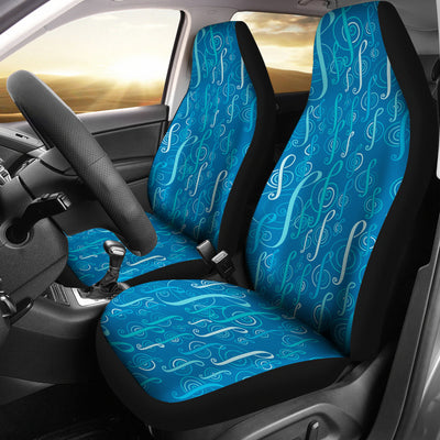 Cars Seat Covers Blue treble clefs