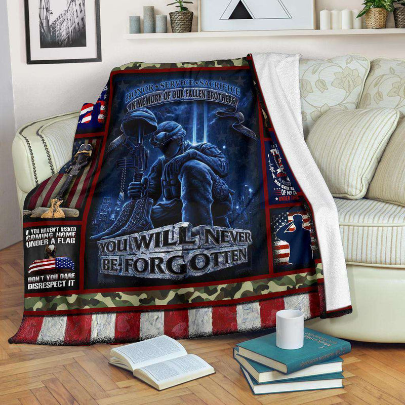 VETERAN - You will never be forgotten Quilt Blanket EP1212