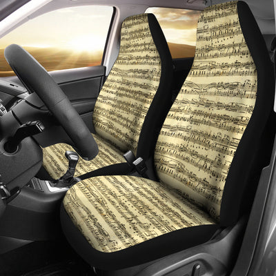 Sheet Music Car Seat Covers