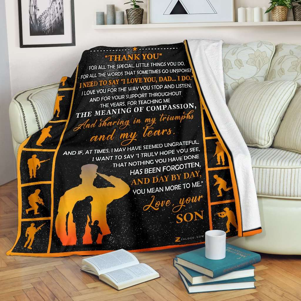 Veteran - Dad - Thank You Quilt Blanket EP1712
