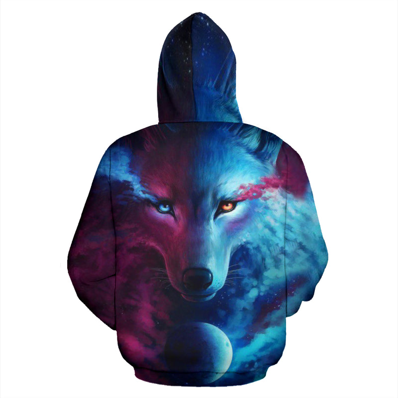 The moon and the Wolf All Over Hoodie PF106