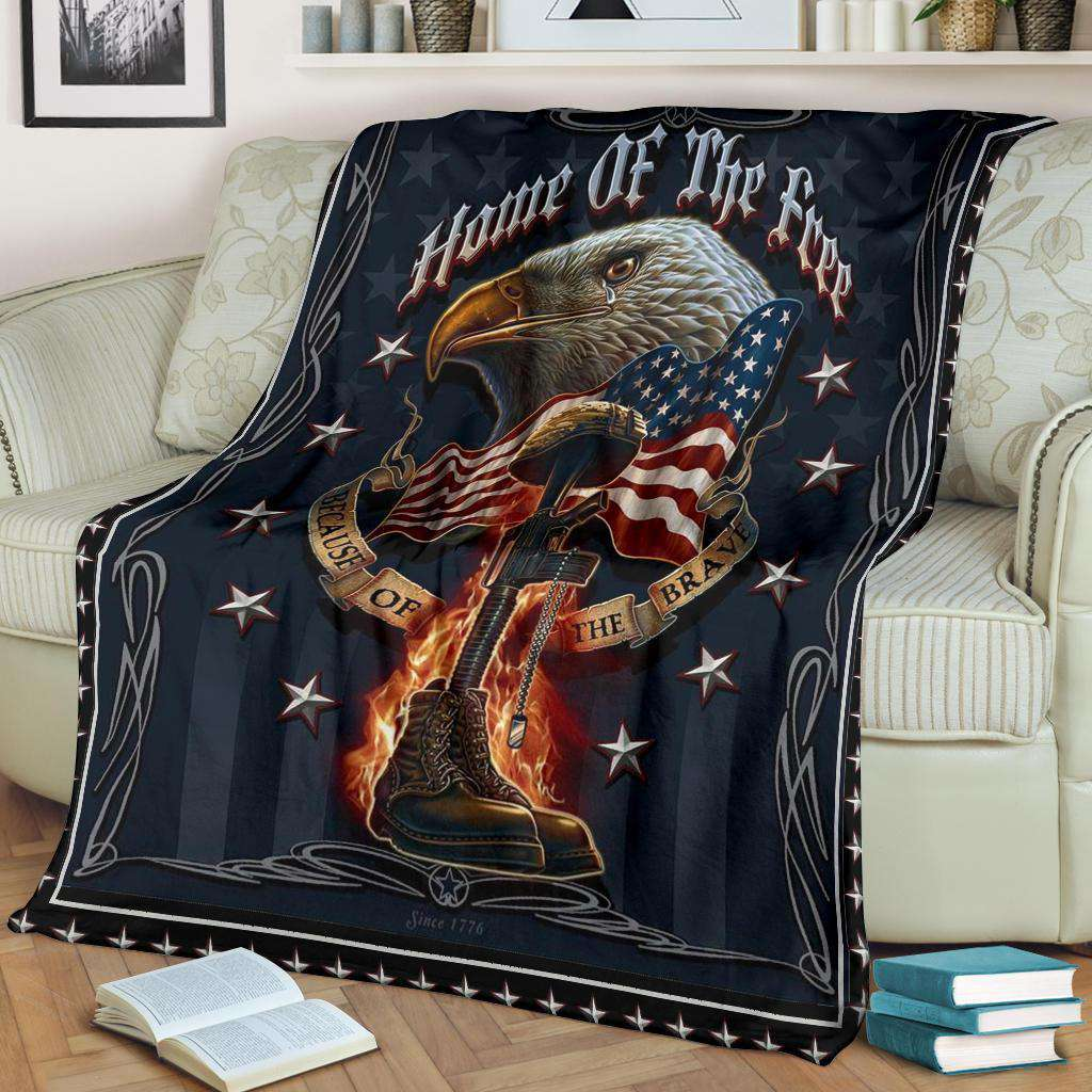 VETERAN - Home of the free Quilt Blanket EP1516