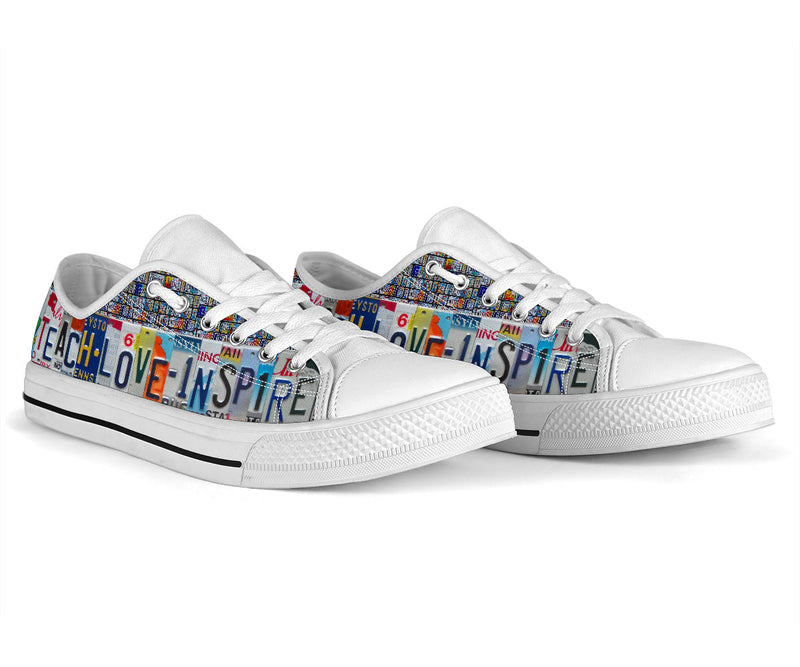 Teacher Love Inspire Low Top