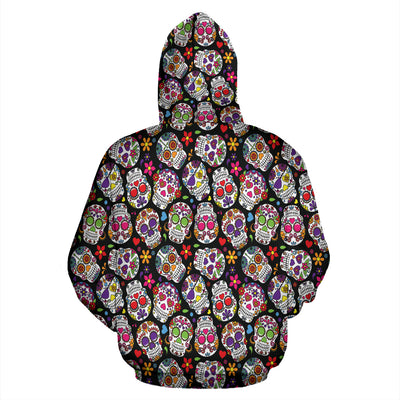 Multi-Colored Skull All Over Hoodie PF207