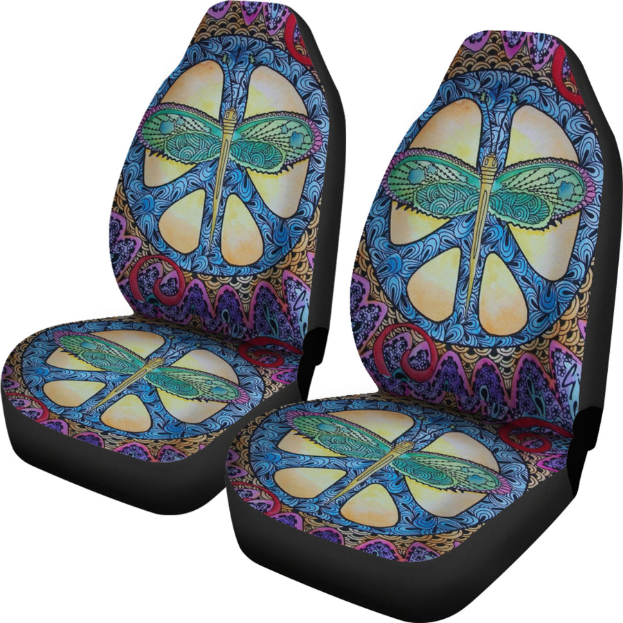 Dragonfly Peace Car Seat Covers