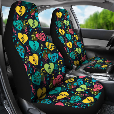 Car Seat Cover Music Hearts Car Seat Covers