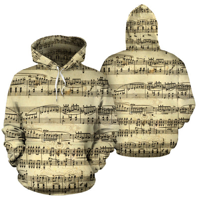 Sheet Music Design All Over Hoodie