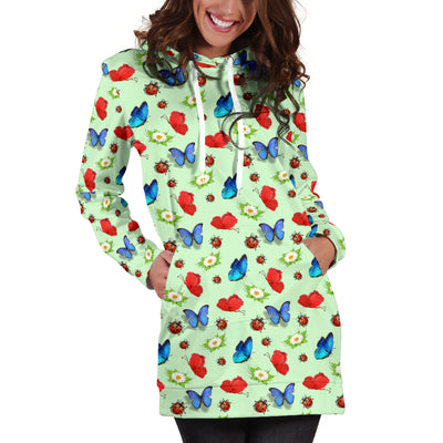 Butterfly Garden Hoodie Dress