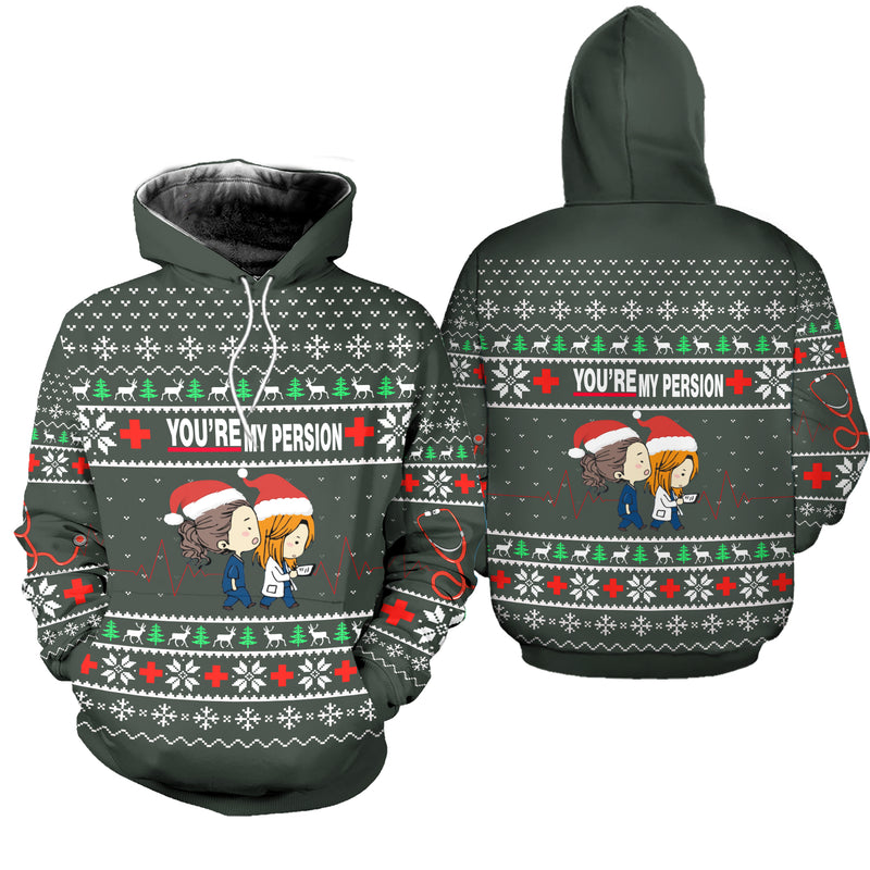 Greys Anatomy You're My Person Ugly Christmas Sweatshirt Hoodie All Over Printed PF226